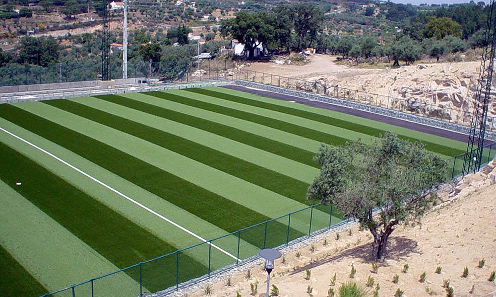 Construção do campo de treinos - Portalegre
